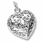Rembrandt Charms filigree heart charm