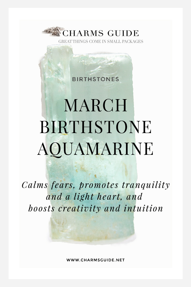 Learn about March birthstone Aquamarine: Colors, facts and healing properties. And don't miss our curated selection of favorite aquamarine jewelry finds!