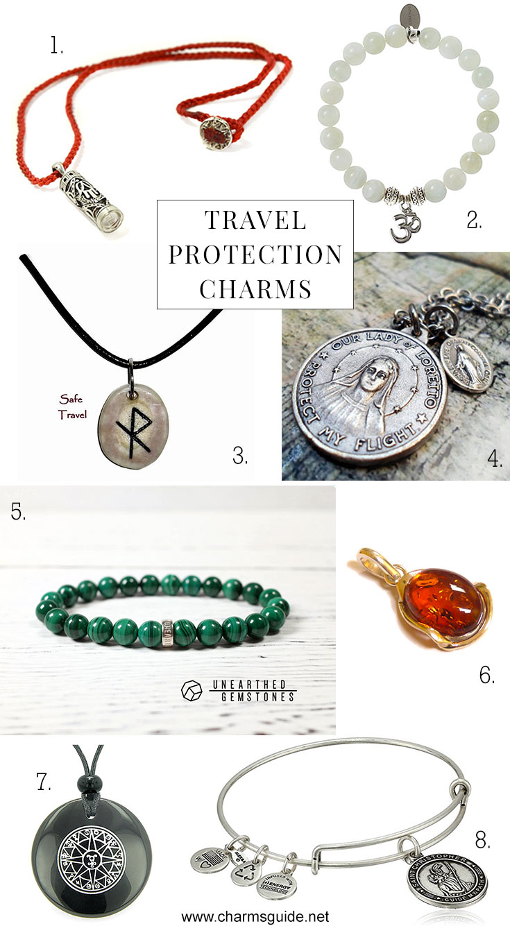 Travel protection charms curated by CharmsGuide.net