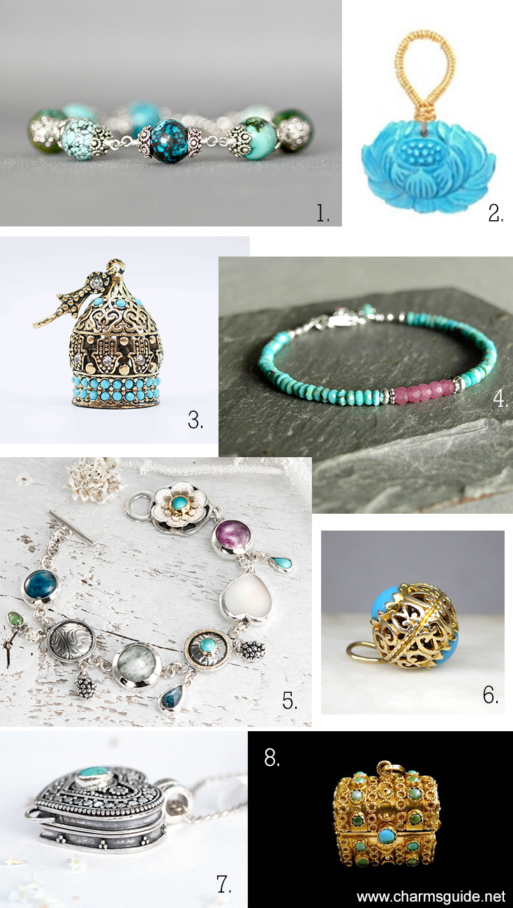 Turquoise jewelry curated by CharmsGuide.net