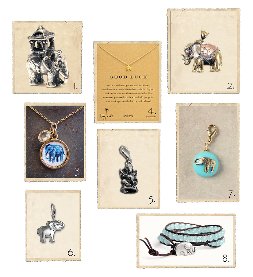 Elephant charms and pendants | Collage by Charms Guide