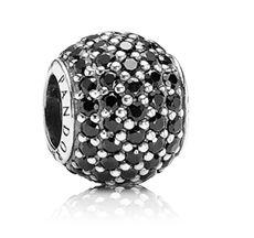 Pandora black pave bead