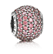 Pandora pink pave bead