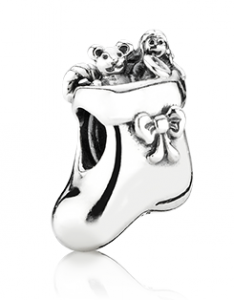 Pandora Christmas stocking bead
