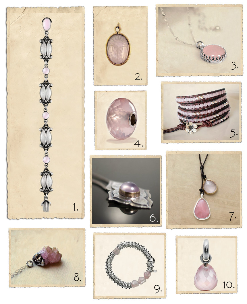 Rose quartz jewelry: the love gemstone