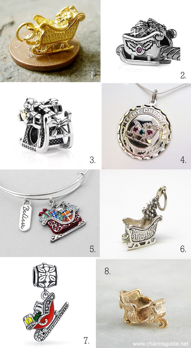 Santa's Sleigh Christmas Charms curated by CharmsGuide.net