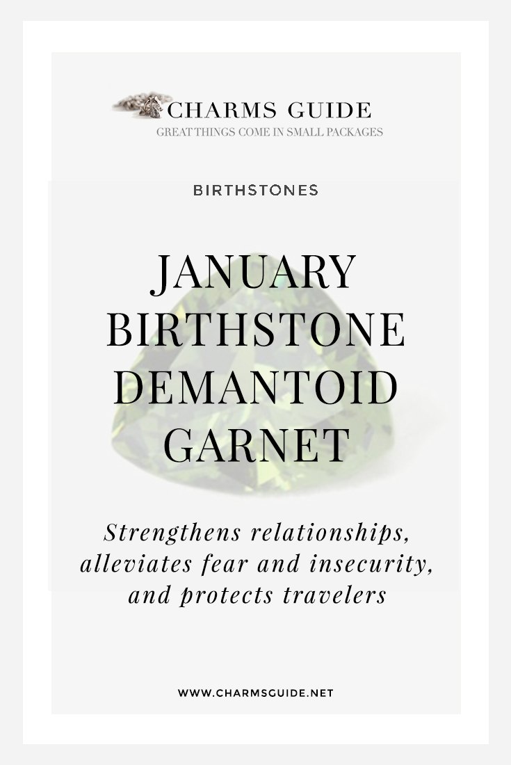 Learn more about the gorgeous green January birthstone Demantoid Garnet and see our handpicked selection of stunning demantoid garnet jewelry.