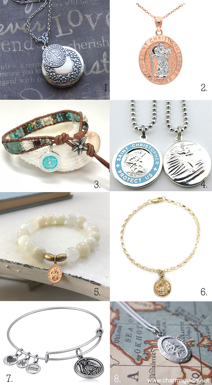 St. Christopher Necklace Pendants, Charms and Bracelets | CharmsGuide.net